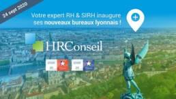 Affichage d'inauguration des bureaux de Lyon